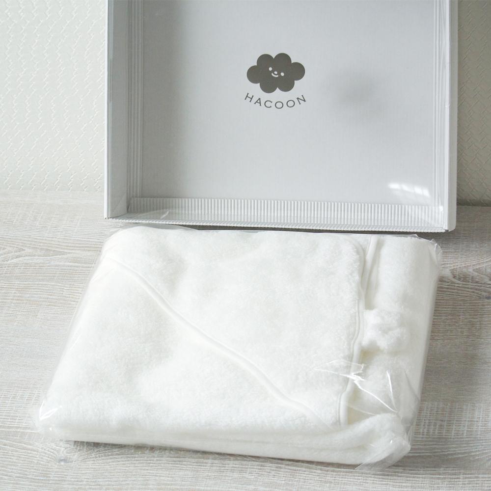 今治タオル 白雲ベビー ギフトセット ( 白雲おくるみ+ベビー専用BOX )( フード付き みみ付きおくるみ )